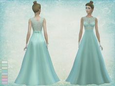 Dream comes true dress by Simalicious at TSR • Sims 4 Updates