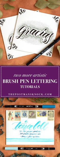 Two More Artistic Brush Pen Lettering Tutorials