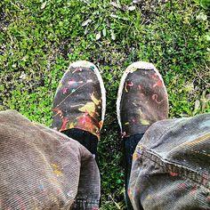 Gajes del oficio/ Occupational hazard #painter #paint #consequence #color #paintershoes #working #creativeprocess