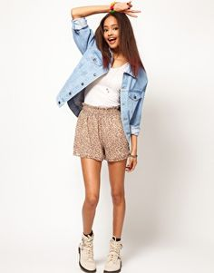 822d4199b48 Image 4 of ASOS PETITE Denim Jacket In Oversized Boyfriend Fit Back To  School Fashion