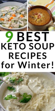 The best keto soup recipes for the ketogenic diet. Low carb, vegetarian, and beef.