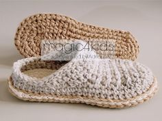 Crochet slippers pattern men loafers with rope by magic4kids