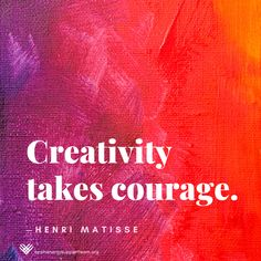 #Creativity takes #courage. Not just in the arts, but in life. To take care of our own health and well being, and to take care for others, may require creative ideas and solutions. In these cases, we are brave explorers indeed. #TBITalk #GivingTuesday #braininjuryawareness #TBI