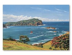 Check out Tutukaka Heads by Peter Morath at New Zealand Fine Prints Bay Of Islands, New Zealand Art, Nz Art, Kiwiana, Print Store, Beach Scenes, The Locals, Cool Art, Fine Art Prints