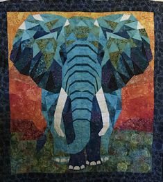 she's beautiful! Elephant Paper Piecing, Elephant Quilts Pattern, Baby Boy Quilt Patterns, Baby Boy Quilts, Paper Piecing Patterns, Pattern Paper, Quilting Patterns, Modern Quilt Blocks, Biggest Elephant