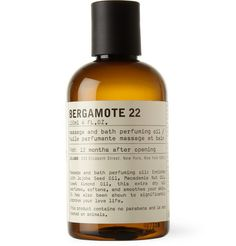 Le Labo Bergamote 22 Body Oil 120ml | MR PORTER  $65  Originally named 'the fire cologne', Le Labo's Bergamote 22 scent opens with clean, crisp notes of petitgrain and grapefruit, deepened with heady amber and rounded off with smokey vetiver base tones. This body oil imparts the fragrance whilst moisturising and nourishing the skin.