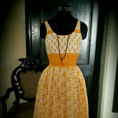 OOAK couture Sun dress Boho indie chic cotton dress easy wear beach wear in soft cotton fabric