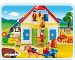 Large Playmobil farm, same one I grew up playing with <3