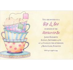 Tea Time Custom Invitation - More Themes - Custom Invitations - Invitations - Party City