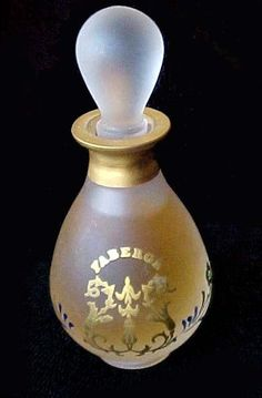 FABERGE PERFUME PARFUM MINI BOTTLE FRANCE HAND PAINTED SIGNED & NUMBERED NEW