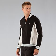 Vintage Cotton Jacket by Fila Tennis Gear, Tennis Clothes, Cotton Jacket, Vintage Cotton, 70s Fashion, 70's Style, Sneakers, Jackets