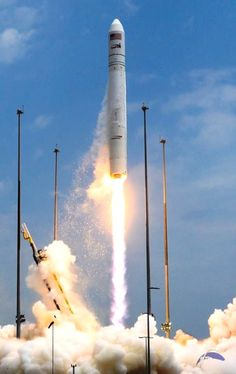 This marked the fourth launch of Orbital's Antares rocket and the second under NASA's Commercial Resupply Services contract. Photo Credit: E...