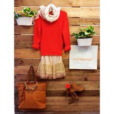 #totallook horabruja #naranja #moda