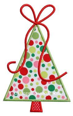christmas tree 7 applique design - Christmas Tree Applique