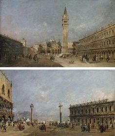 Francesco Guardi (Venice The Piazza San Marco, Venice, looking East; and The Piazzetta, Venice, looking South Price realised GBP Estimate GBP - GBP Francesco Guardi, Luc Tuymans, Jean Dubuffet, Marc Chagall, Gustav Klimt, Henri Matisse, Pablo Picasso, Big Ben, Venice
