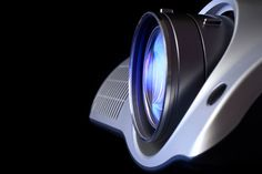 video projector lens close-up