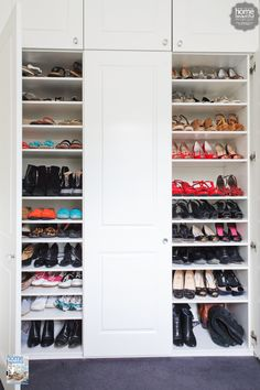 Currently coveting: this organized shoe closet - and the shoes!