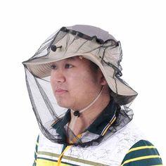 Anti-mosquito Mask Women Men 360 Degree Sunshade Bee Insect Mask Fishing Camping Mesh Cloth Face Mask Net Fishing Accessories