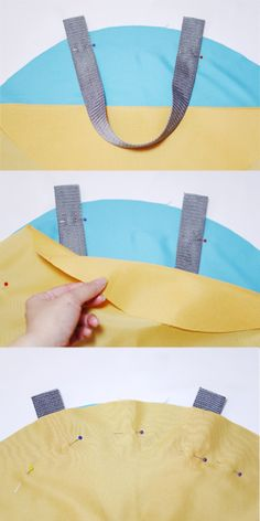 Place Inner fabric onto Main fabric, right sides facing.