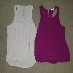 American Eagle Tank Bundle Brand new never worn tanks. Both size small. One nude the other is a plum color. American Eagle Outfitters Tops Tank Tops