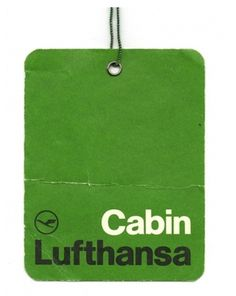 Cabin Luggage Tag for Lufthansa  Design Otl Aicher
