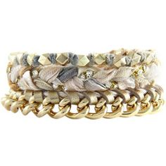 Nude Friendship Bracelets - Stack of 3