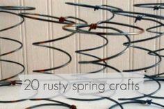20 bed spring crafts