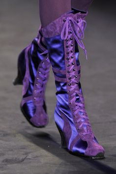 paging Haegtesse to the black courtesy phone. [anna sui How fun are these boots! Purple Love, All Things Purple, Shades Of Purple, Deep Purple, Purple Stuff, Estilo Lolita, Purple Boots, Purple Reign, Purple Fashion
