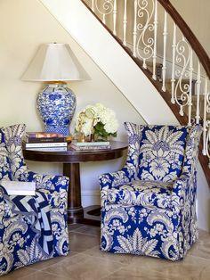 Pabla en casa: Decoración clasica y elegante en blanco y azul