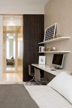 18 Gorgeous Bedrooms That'll Inspire You to Redecorate - Homes Tre Bedroom 2017, Bedroom Desk, Bedroom Apartment, Bedroom Furniture, Master Bedroom, Cheap Bedroom Sets, Stylish Bedroom, Modern Bedroom, Big Bedrooms