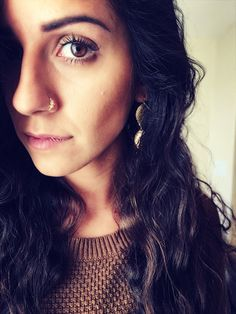 Swarovski crystal Indian nose ring. Septum. Handmade. Gift. Women. Jewelry. Gold. Nose hoop. Bohemian.Stone. Crystal. Statement Ring