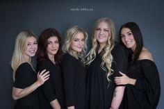 my dream team…Kristina Lynne (stylist), Stefanie Carlson (makeup/hairstylist), Nicole Ashley (photographer), Janna Huget (makeup/hairstylist/stylist), Lisette Sluser (stylist) Nicole Ashley Edmonton Portrait Photography