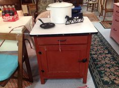 Cute cabinet for kitchen, bathroom or maybe entryway.