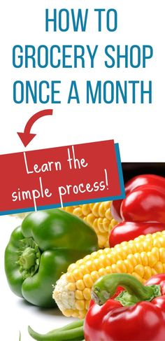 Learn how to do monthly grocery shopping in order to save time and money! Save money on groceries with these monthly grocery shopping tips! Best Money Saving Tips, Money Saving Meals, Save Money On Groceries, Money Tips, Meal Planner Printable, Weekly Meal Planner, Printables, Cheap Food, Cheap Meals