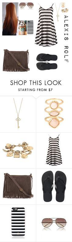 """Untitled #410"" by mirellynathalia ❤ liked on Polyvore featuring Tiffany & Co., Monsoon, Moschino, Boohoo, Keune, T-shirt & Jeans, Havaianas, Kate Spade and Linda Farrow"