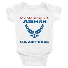 My Mommy Is an Airman - Infant short sleeve one-piece
