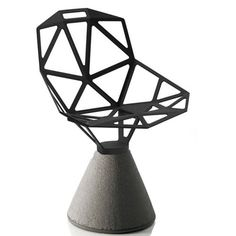 Chair One Magis Base béton assise gris anthracite existe rouge, blanc et noir  design : Konstantin Grcic  Magis  424.00 uare.design