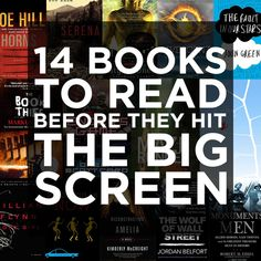14 books to read before they become movies with some information about the books and projected actors I Love Books, Great Books, Books To Read, My Books, I Love Reading, Reading Lists, Reading Nook, The Book Thief, Reading Rainbow