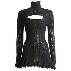 Knit Dress, Dress Up, Black Crochet Dress, Black Knit, Pretty Outfits, Cute Outfits, Scalloped Dress, Lookbook, Cutout Dress