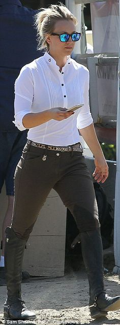 Kaley Cuoco in the latest Ray Ban Mirrors Available from our Wilmslow Opticians