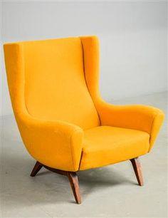 Lænestole - køb og salg af moderne, nyt, antikke og brugte - Ilum Wikkelsø lænestol af teak /uld - DK, Odense, Kratholmvej