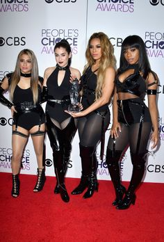 Fifth Harmony makes its debut as a quartet at People's Choice Awards Fifth Harmony 2017, Fith Harmony, Fifth Harmony Camren, I Love Girls, Cool Girl, My Girl, Ally Brooke, Stage Outfits, Celebrity Style
