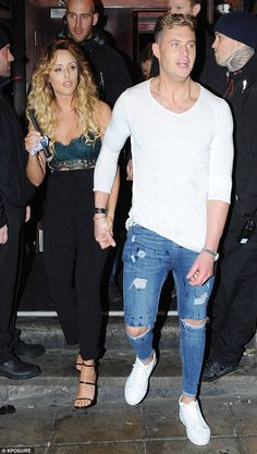 More than friends? In fact, Charlotte seemed to have struck up quite the romance with a certain co-star, as she left hand-in-hand with Scotty T Geordie Shore Charlotte, Charlotte Crosby, Fashion Fail, Mens Fashion, Scotty T, Fashion Night, Celebrity Photos, Night Out, Casual Outfits