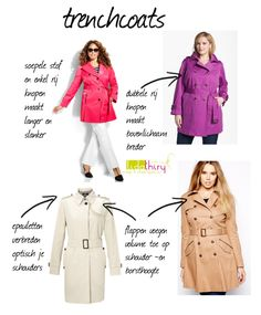 Kies de trenchcoat die bij je bodytype past | www.lidathiry.nl | klik op de foto voor tips #kledingtip