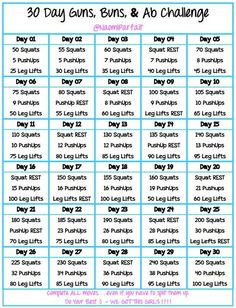 30 day guns, buns  ab challenge - something I can still do while pregnant