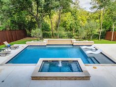 Riverbend Sandler Pools offers Geometric Pool Designs Dallas, Frisco and surrounding areas that homeowners can be proud of. Backyard Pool Landscaping, Small Backyard Pools, Backyard Pool Designs, Swimming Pools Backyard, Swimming Pool Designs, Swimming Holes, Small Inground Pool, Inground Pool Designs, Lap Pools