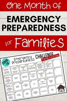 Covid-19 Emergency Preparedness Challenge: Family Edition! I LOVE this idea! This girl is so intentional with teaching her kids and including them in her emergency preparedness. This is a great calendar - perfect ideas that aren't too hard or overwhelming to do with your kids! #covid19 #emergencypreparednessforfamilies
