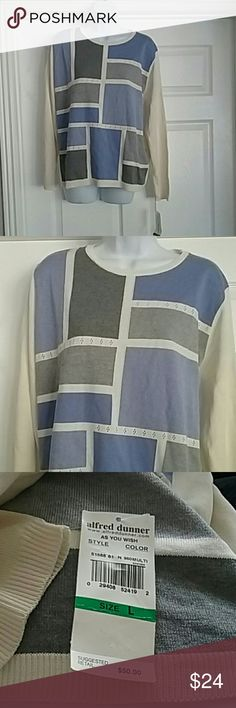 Nwt Alfred dunner size large women's knit shirt Nwt Alfred dunner size large women's knit shirt. Smoke free home Alfred Dunner Tops