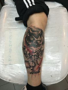 Trash polka owl #painfulartmanu