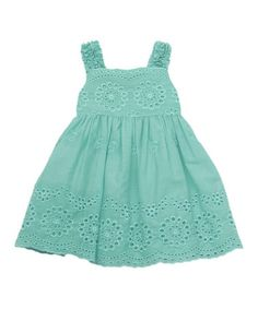Another great find on #zulily! Mint Floral Embroidered Eyelet Dress - Infant #zulilyfinds
